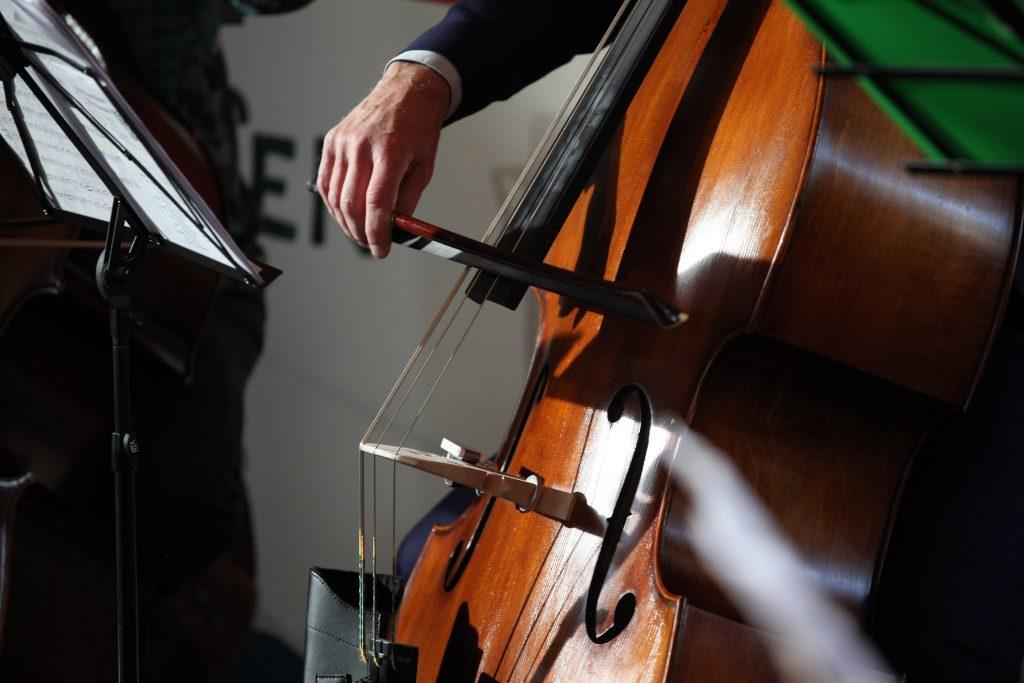 Contrabas in het orkest